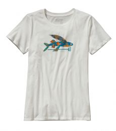 Isle Wild Flying Fish Cotton Crew Womens