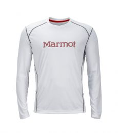 Marmot Windridge with Graphic LS Tee Men quick drying performance breathable comfortable trail running mountaineering climbing